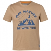 "Футболка ""MAY NATURE BE WITH YOU"", песочный"